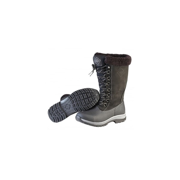 Muck Boots Black/Charcoal Women's Arctic Apres Lace Tall Boot - Size 7