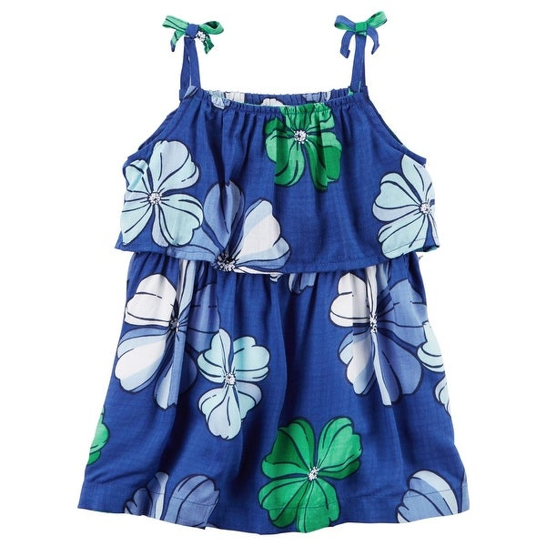 ff94ddcf0 Shop Carter's Baby Girls' 1 Piece Layered Hawaiian Dress, 6 Months - Free  Shipping On Orders Over $45 - Overstock - 18301783