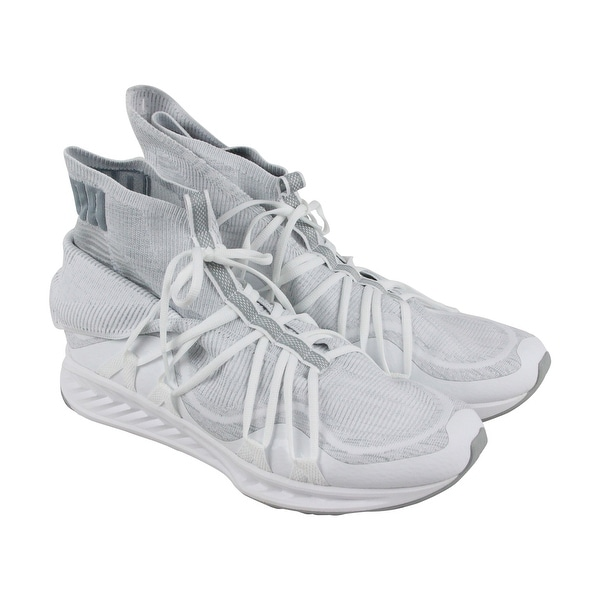 Puma Ignite Evoknit Fold Mens White Textile Athletic Lace Up Training Shoes