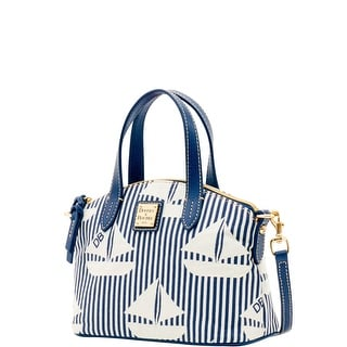 Dooney & Bourke Sailboat Ruby (Introduced by Dooney & Bourke at $158 in Jan 2016) - navy white