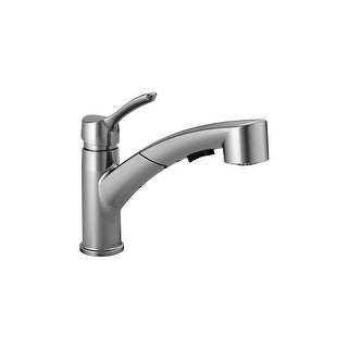 Delta 4140-DST  Collins Pull-Out Spray Kitchen Faucet with Optional Escutcheon Plate