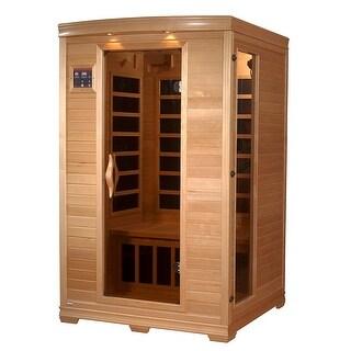 GDI Luxury GDI-6202-03 2-person Far Infrared Carbon Natural Hemlock Wood Sauna