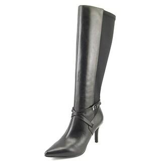 Nine West Sosheeko Pointed Toe Leather Knee High Boot