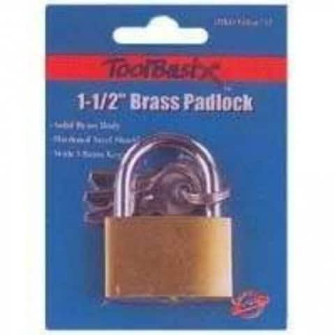 "Mintcraft TGE-BP403L 1-1/2"" Brass Padlock 3Key"