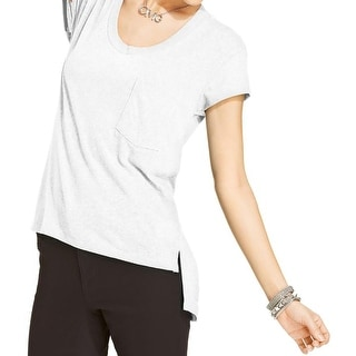 Energie Womens Juniors Alyssa Casual Top Linen Blend Scoop Neck