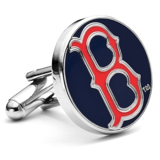 Silver Plated Classic Boston Red Sox Cufflinks