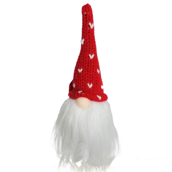 "8"" Christmas Santa Gnome Head with Red Hat Decorative Ornament"