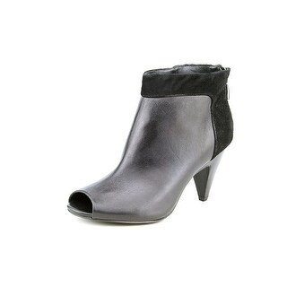 Alfani Stassi Peep-Toe Leather Bootie
