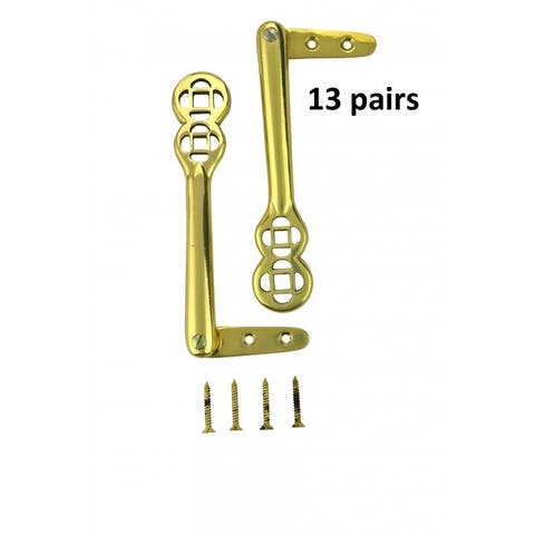 Carpet Clip Stair Holder Solid Brass Pair of 13