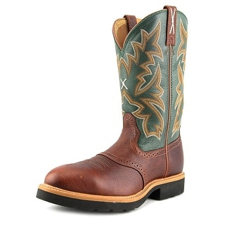 Twisted X Cowboy Work Pull On Steel 12'' Men Leather Multi Color Work Boot