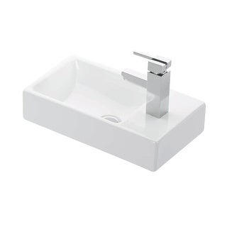 "WS Bath Collections Minimal 4057  Minimal 17-9/10"" Wall Mounted Bathroom Sink - White"