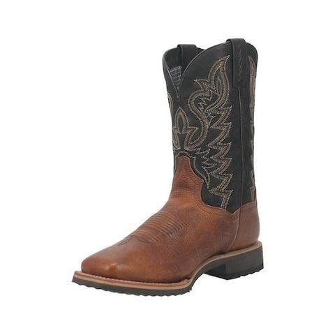 Dan Post Western Boots Mens Boldon Leather Square Toe Cognac