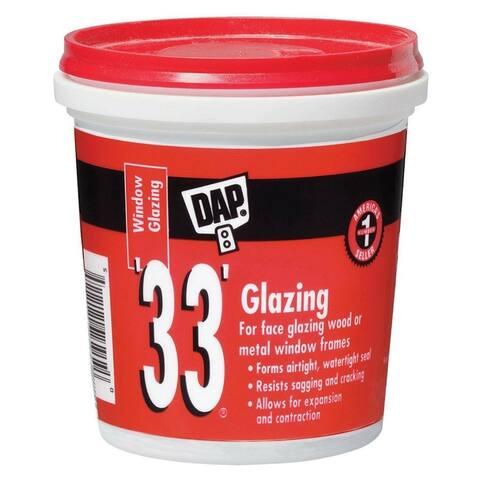 Dap 12120 Glazing Compound, 1/2 Pint, White, #33