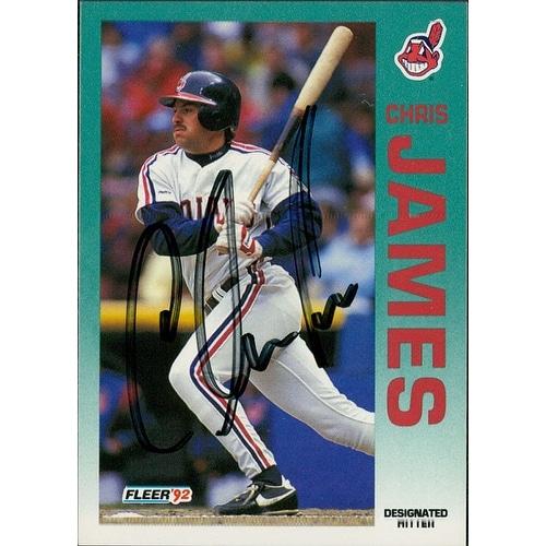 Signed James Chris Cleveland Indians 1992 Fleer Baseball Card Autographed