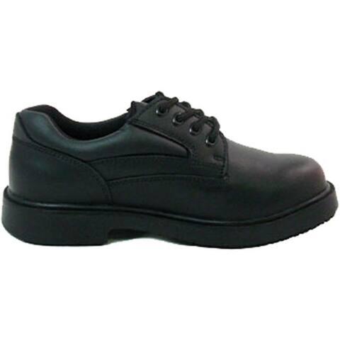 Genuine Grip Footwear Women's Slip-Resistant Blucher Black Leather