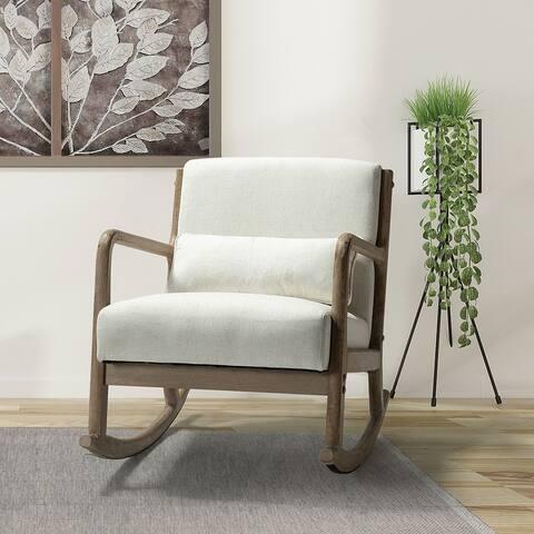Carolo Rocking Chair with a Lumbar Pillow