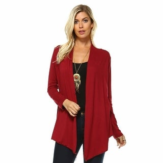 Isaac Liev Womens Classic Lightweight Flyaway Cardigan - Assorted Colors & Extended Sizes