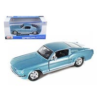 1967 Ford Mustang GT Diecast Car Model 1/24 Blue Die Cast Car by Masito