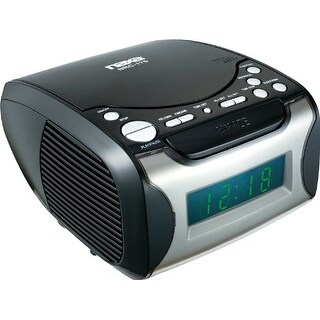 Naxa NAXNRC175B Naxa Digital Alarm Clock with Digital Tuning AM/FM Radio and CD Player