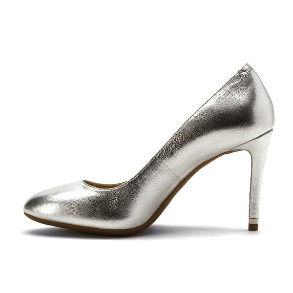 8e16ac14bf73 MICHAEL Michael Kors Womens Ashby Flex Pump Leather Closed Toe Classic Pumps