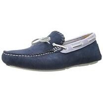 Jack Rogers Men's Paxton Suede Boat Shoe, Blue, 10 M US