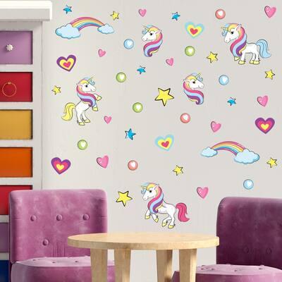 Walplus Unicorn Kids Children Wall Sticker Nursery Decor Decal DIY Art