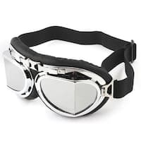 Unique Bargains Cycling Skiing Ski Racing Silver Tone Lens Goggles Eyewear Protective Glasses