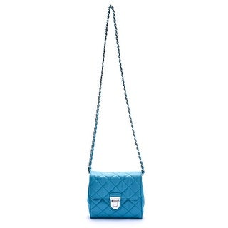 Prada Women Mini Bandiolera Crossbody Handbag Turquoise - Blue - L