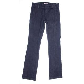 Tommy Hilfiger Womens Denim Solid Straight Leg Jeans - 8