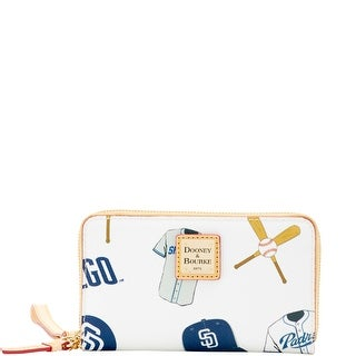 Dooney & Bourke MLB Padres Zip Around Phone Wristlet (Introduced by Dooney & Bourke at $118 in Mar 2016) - White