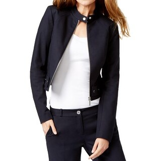 Michael Kors Womens Jacket Cropped Moto - 6