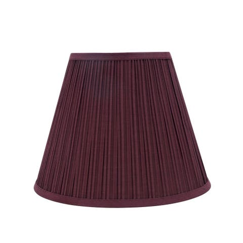 "Aspen Creative Pleated Empire Shaped Spider Construction Lamp Shade in Burgundy (7"" x 13"" x 10"")"