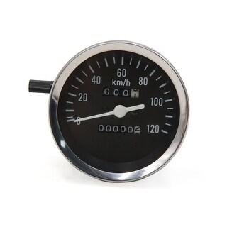 0-120km/h Black Rectangle Analog Odometer Motorcycle Speedometer Gauge for GN