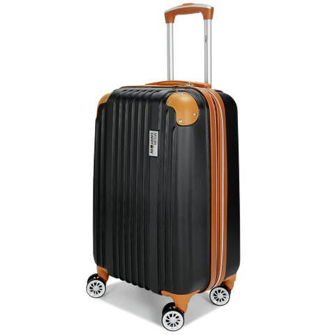 """Miami CarryOn Collins 20"""" Expandable Spinner Retro Carry-on Suitcase"""