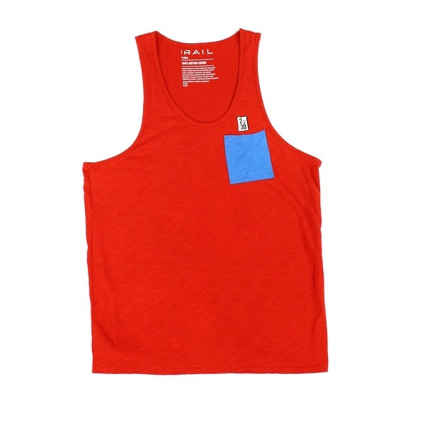 cc501ce7cea64 Shop The Rail NORDSTROM Red Mens Size XL Sleeveless Pocket Tee Tank Top -  Free Shipping On Orders Over  45 - Overstock - 27732459