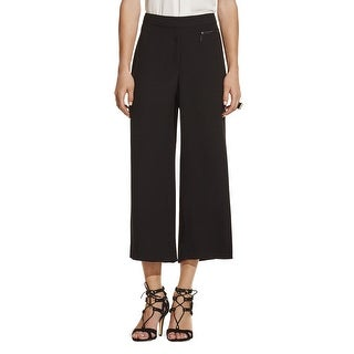 Vince Camuto NEW Black Womens Size 4 Zip Pocket Cropped Culottes Pants