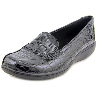 Clarks 64894 Women W Round Toe Synthetic Black Loafer