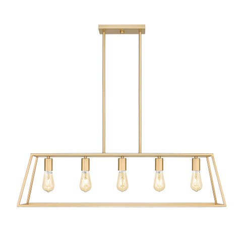 OVE Decors Adele 5-Light 38 in. Ceiling Pendant Light in Brushed Gold Painted finish