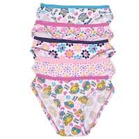 1000% Cute Little Girls Multi Peace Print 5 Piece Pack Cotton Underwear