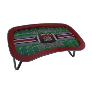 NCAA Ohio State Buckeyes Multi-Function Metal Lap Tray w/Folding Legs 22 Inch - Red