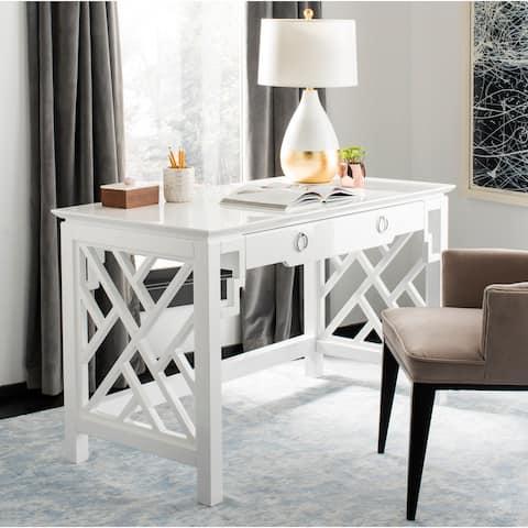 SAFAVIEH Couture Oren Lacquer Desk - White