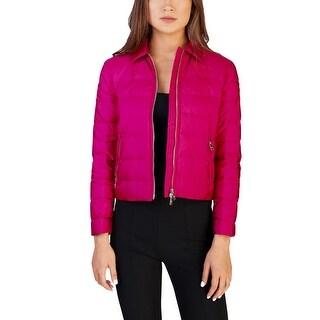 Prada Women's Nylon Puffer Down Jacket Pink - 4