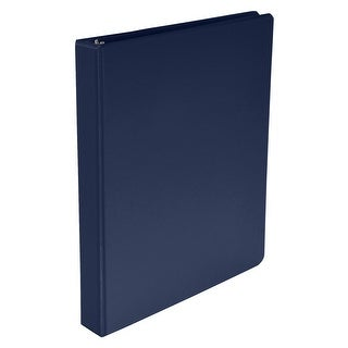 School Smart Polypropylene Round Ring Binder, 1 in, Blue