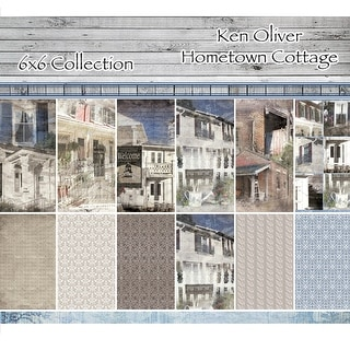 "Ken Oliver Double-Sided Paper Pad 6""X6"" 24/Pkg-Hometown Cottage, 6 Designs/4 Each"