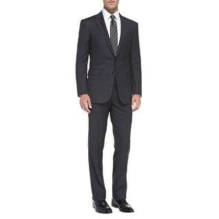Ralph Lauren Black and Grey Windowpane Wool Suit 38 Regular 38R Pants 31W