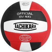 Tachikara SV18S Composite Leather Volleyball (Red/White/Black)