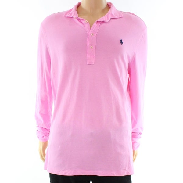 0fb77548e Shop Polo Ralph Lauren NEW Pink Mens Size XL Polo Featherweight Mesh Shirt  - Free Shipping Today - Overstock - 19557133