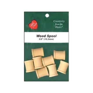 "Lara's Wood Pkg Spool 5/8x3/4"" 8pc"