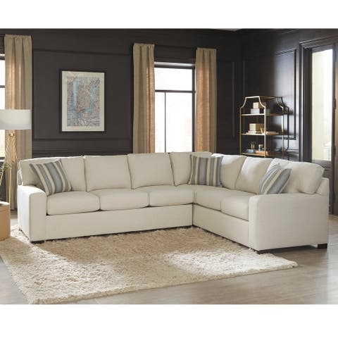 Kobe Beige Sectional Sofa Bed with Queen Gel Memory Foam Mattress