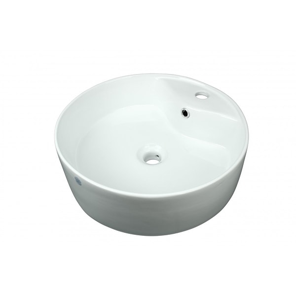 Bathroom Vessel Sink White China Prescott Faucet Hole | Renovator's Supply
